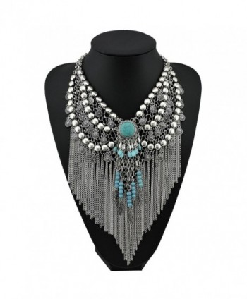 Statement Jewelry Pendant Necklace NK 10053 silver