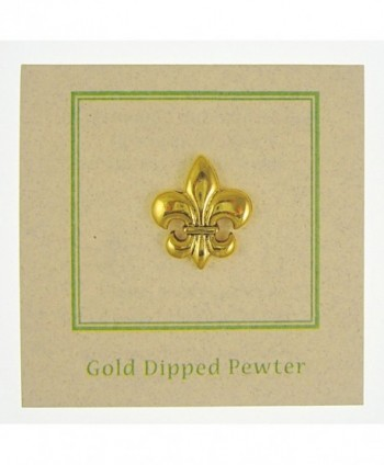 Fleur Lis Gold Lapel Pin in Women's Brooches & Pins