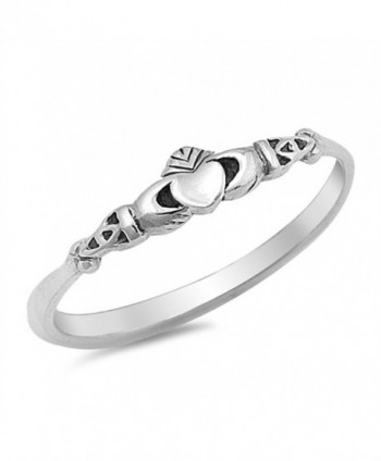 Claddagh Heart Celtic Beautiful Ring New .925 Sterling Silver Band Sizes 2-10 - CN12GTVPESD