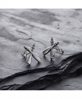 Sterling Silver Rafting Paddles Earrings