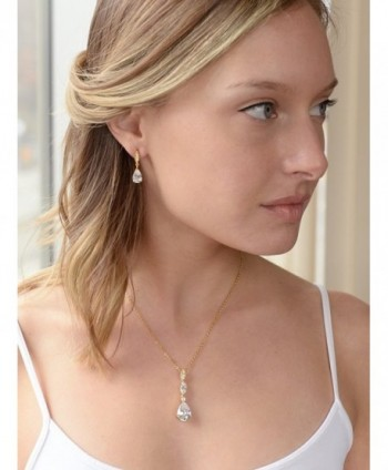 Mariell Best Seller Pear Shaped Bridesmaids Necklace in Women's Jewelry Sets
