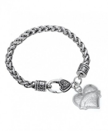 Clear Crystal Heart Bracelet Jewelry in Women's Charms & Charm Bracelets