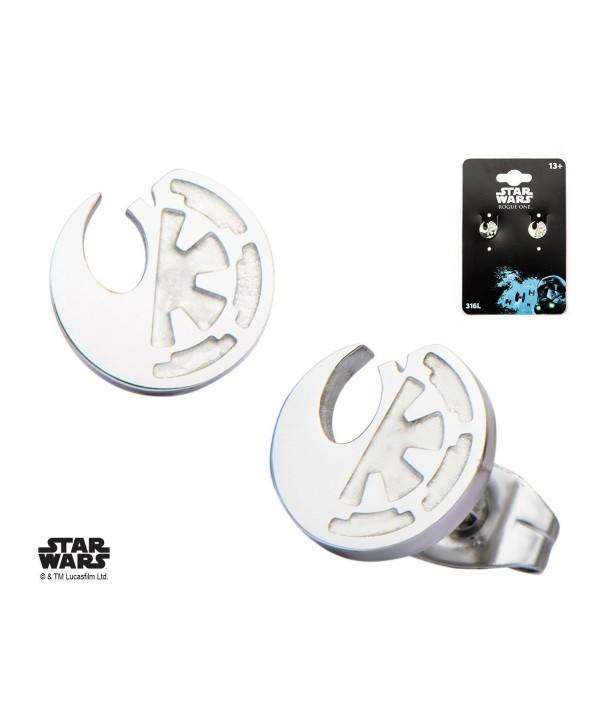 Star Wars Rogue One Earrings Rebel Alliance/Galactic Empire Symbol Stud Earrings - CL12NRV0TZ6