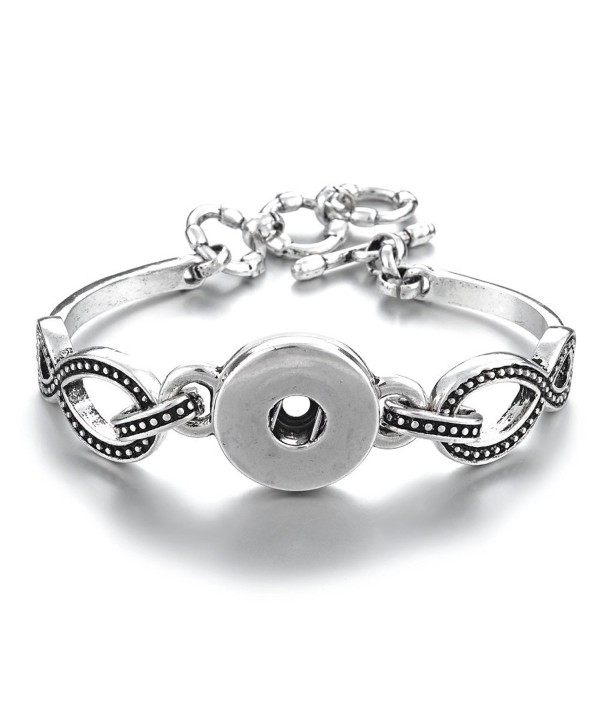 Vocheng 1-Snap Wrist Bracelet 18mm Interchangeable Jewelry NN-440 - C312GFUV3S3