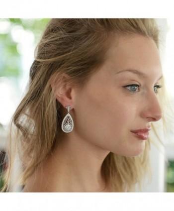 Mariell Vintage Wedding Earrings Brides in Women's Drop & Dangle Earrings