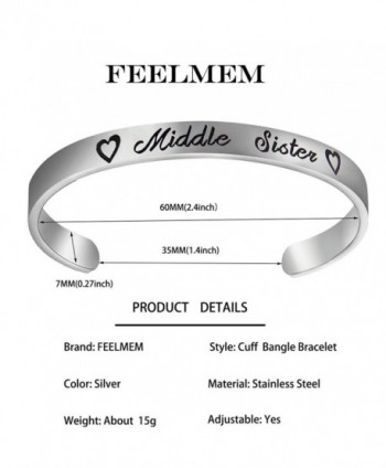 FEELMEM Middle Jewelry Bracelet Friends in Women's Cuff Bracelets