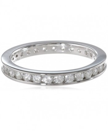 "Myia Passiello ""Stackable"" Swarovski Zirconia Round Channel Band - CH11EVF5B5B"
