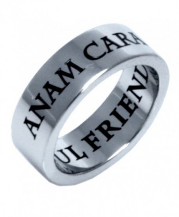 Stainless Steel Anam Cara Irish Celtic Ring - C0115MDV6MD