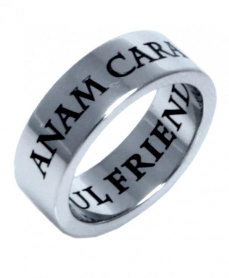 Stainless Steel Anam Cara Irish Celtic Ring - C0115MDV6MD