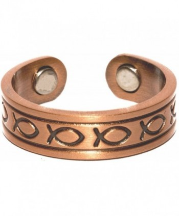 Copper Fish - Magnetic Therapy Ring - CK1194VWFTR
