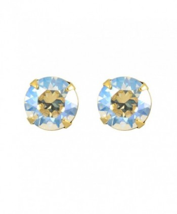 Liz Palacios Gold Plated Crystal Round Stud Earrings - CP126Y5YGX3