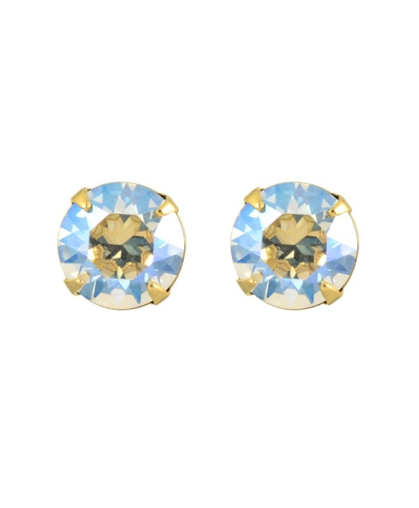 Liz Palacios Gold Plated Crystal Round Stud Earrings - CP126Y5YGX3