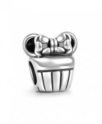 SOUFEEL 925 Sterling Silver Silver Cute Micky Charm Bead Fit European Bracelets Best Gifts - CU11PSL0SMN