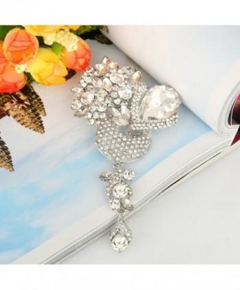 EVER FAITH Silver Tone Crystal Rhinestone in Women's Brooches & Pins
