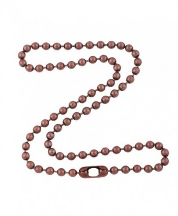4.8mm Large Antique Copper Ball Chain Necklace with Extra Durable Color Protect Finish - C012IERV6MN