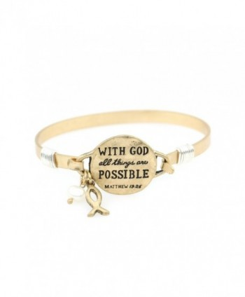 Possible Handmade Beautiful Christian Bracelet - Warm Gold - CH187KSQNI0