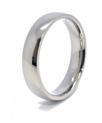 Classic 5mm Domed Titanium Wedding Band (4-15) - CX119NA8TPR