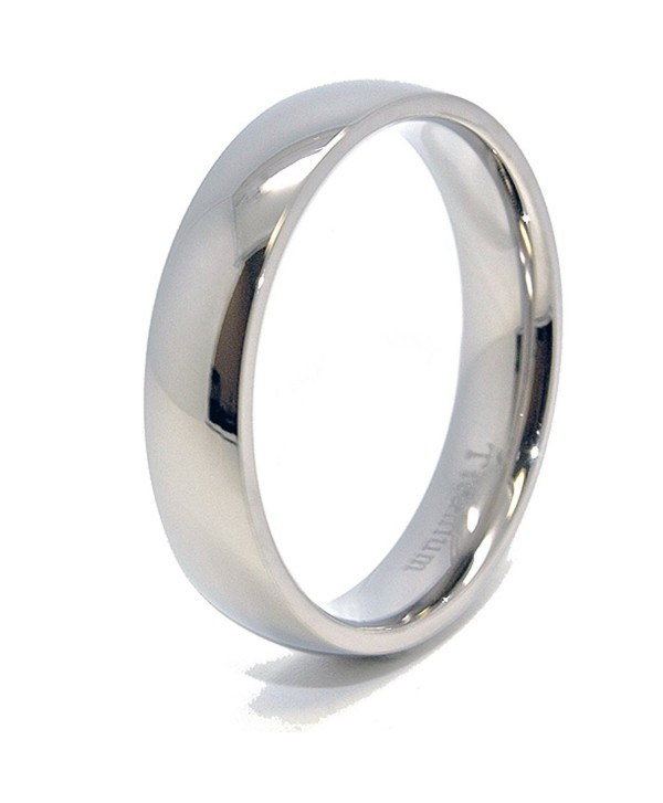 Classic 5mm Domed Titanium Wedding Band (4-15) - CX119NA8TPR