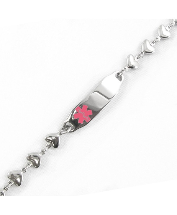 MyIDDr - Medical ID Bracelet- HEART CHAIN- Free Medical Alert Card Incld. - CJ11CJ7TWEJ