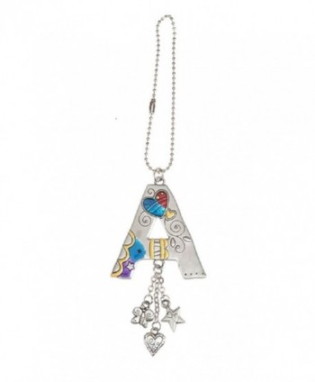 Initial Color Art Car Charm and Chain by GANZ for Rearview Mirror - A - CF12N5OWL3H