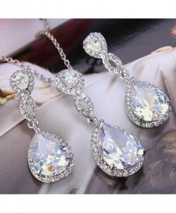 EVER FAITH Wedding Austrian Silver Tone in Women's Drop & Dangle Earrings