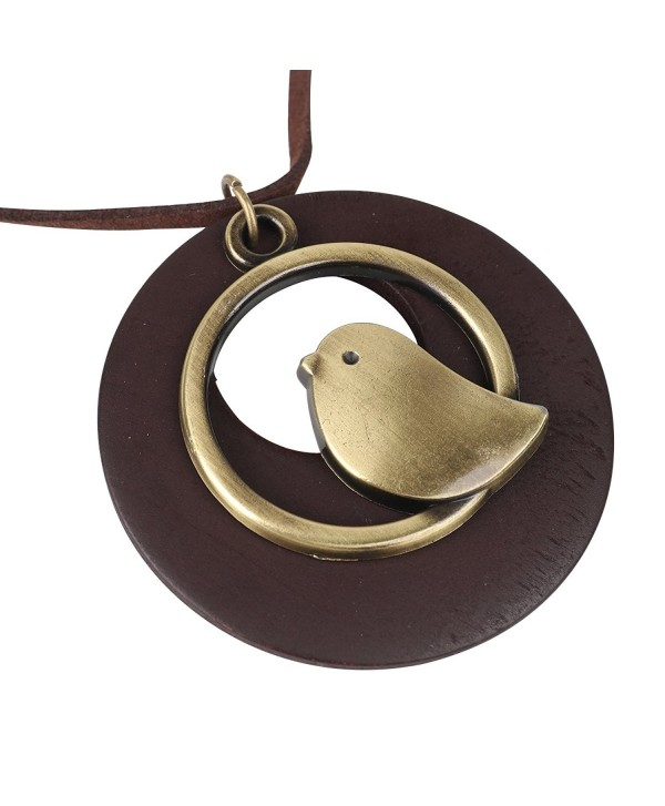 QIAONAI Pendant Handmade Jewelry Leather - Coffee - C1183D6N9UR