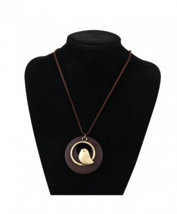 QIAONAI Pendant Handmade Jewelry Leather