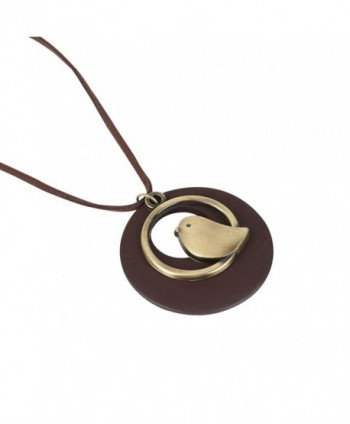 QIAONAI Pendant Handmade Jewelry Leather in Women's Pendants