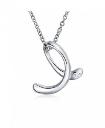 Bling Jewelry Sterling Initial Necklace