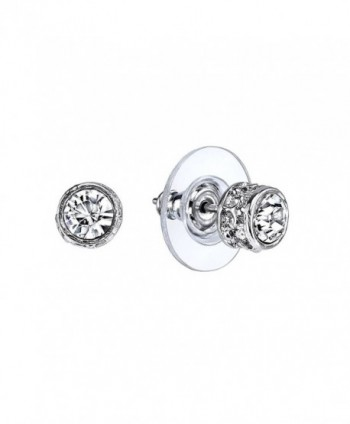 1928 Jewelry Silver-Tone Crystal Stud Earrings - C211KH8CVSV