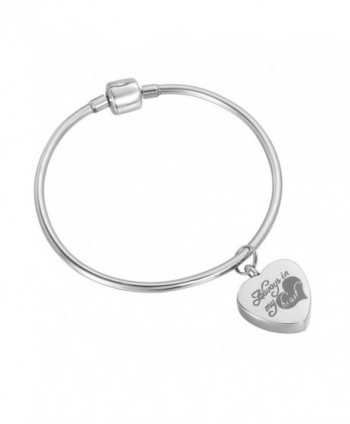 HooAMI Always in my heart Charm Memorial Urn Bracelet - Cremation Ashes Bangle with Personalized Engraving - CQ12EZ4CXSP
