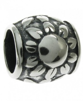 Sterling Silver The Sunflower European Style Bead Charm - CG115Y8QR6L