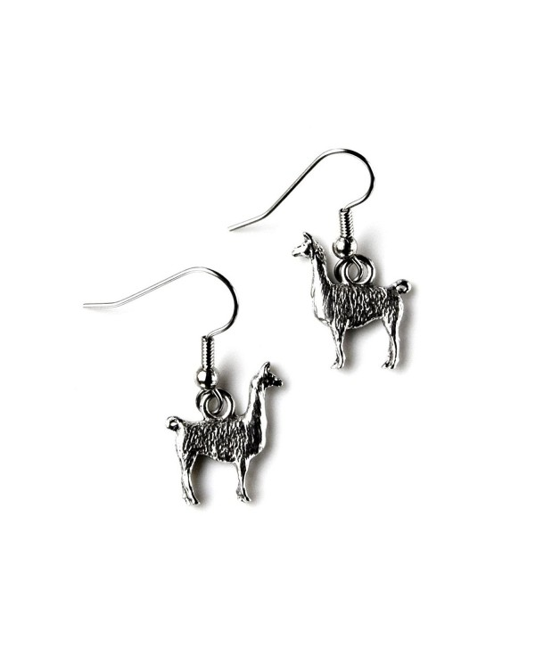 Llama French Loop Earrings - C511LYC3T85