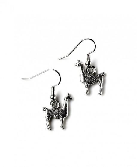 Llama French Loop Earrings - C511LYC3T85