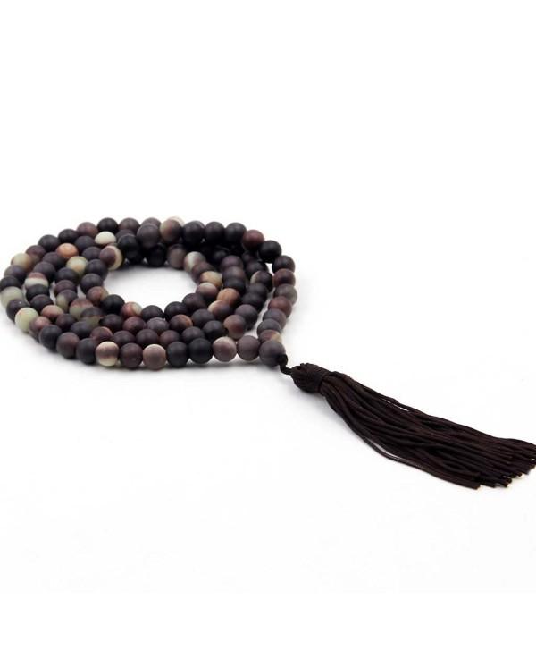 6mm Zipao Stone Beads Tibetan Buddhist Prayer Meditation Mala Rosary - CW1175CYB8F
