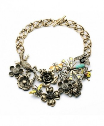 Fun Daisy Grand Natural Garden Bees in the Flowers Bugs Fashion Necklace - xl00908 - C811MKXSEZF