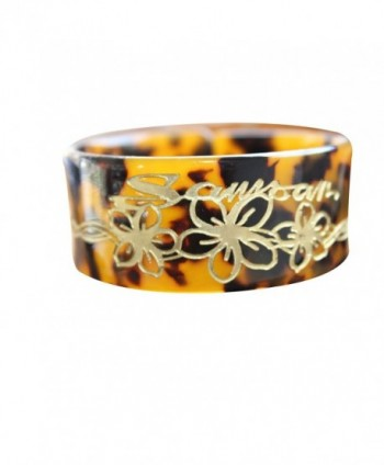 Tortoise style bangle carved design