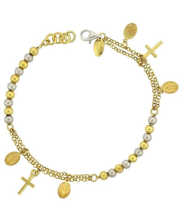 Sterling Silver Bracelet Miraculous two tone - White & Yellow Gold Two tone - C211DAR9ZG1