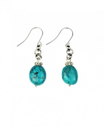 Composed Turquoise Crystal Earrings Assembled