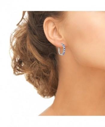 Sterling Tanzanite Princess cut Filigree Earrings