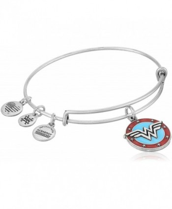 Alex and Ani Wonder Woman Logo Bangle Bracelet - Rafaelian Silver - C317YDC6LWL