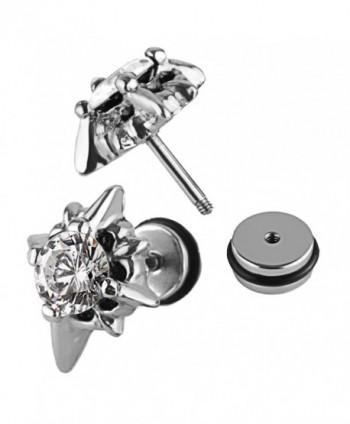 Charisma Unisex Stainless Zirconia Earrings in Women's Stud Earrings