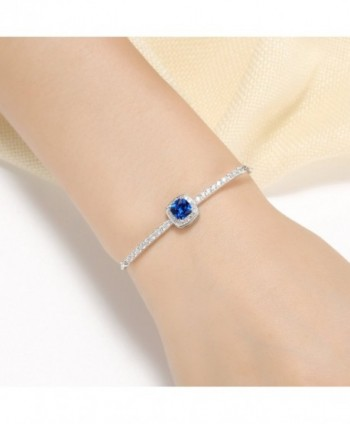 Vibrille Adjustable Sterling Cushion Cut Sapphire