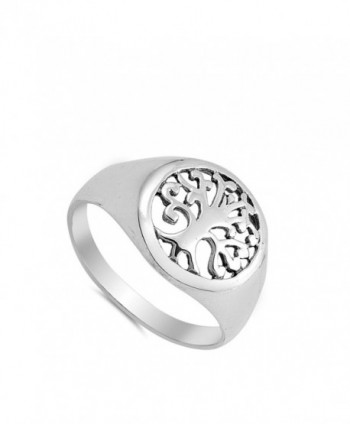 Filigree Tree Cutout Sterling Silver