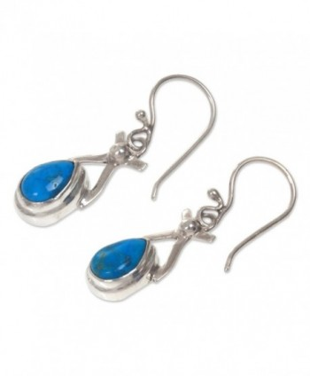 NOVICA Turquoise Sterling earrings Temptations in Women's Drop & Dangle Earrings