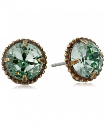 Sorrelli Elegant Jackie 0 Stud Earrings - Dark Blue/Green - CQ115TM5083