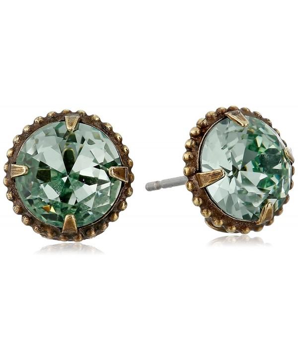 Sorrelli Elegant Jackie 0 Stud Earrings - Dark Blue/Green - CQ115TM5083