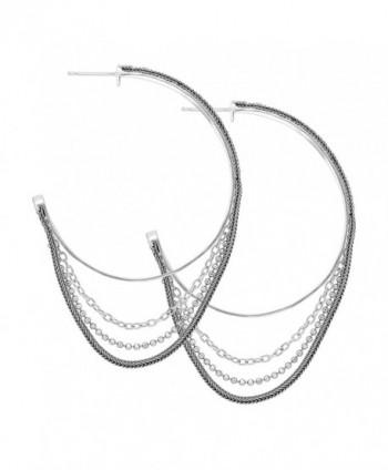 Silpada High Sterling Silver Earrings in Women's Hoop Earrings