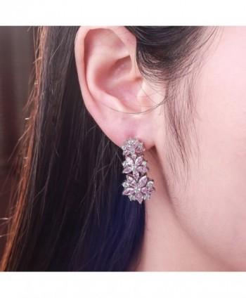Caperci Sterling Zirconia Sapphire Earrings
