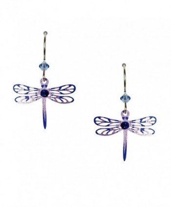 Sienna Sky Purple Lavender Filigree Dragonfly Earrings 1540 - CK11D3SMDYT